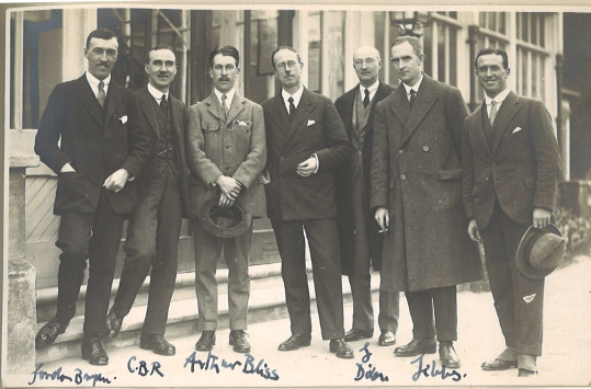 Cyril Rootham and other musicians in Cambridge about 1925