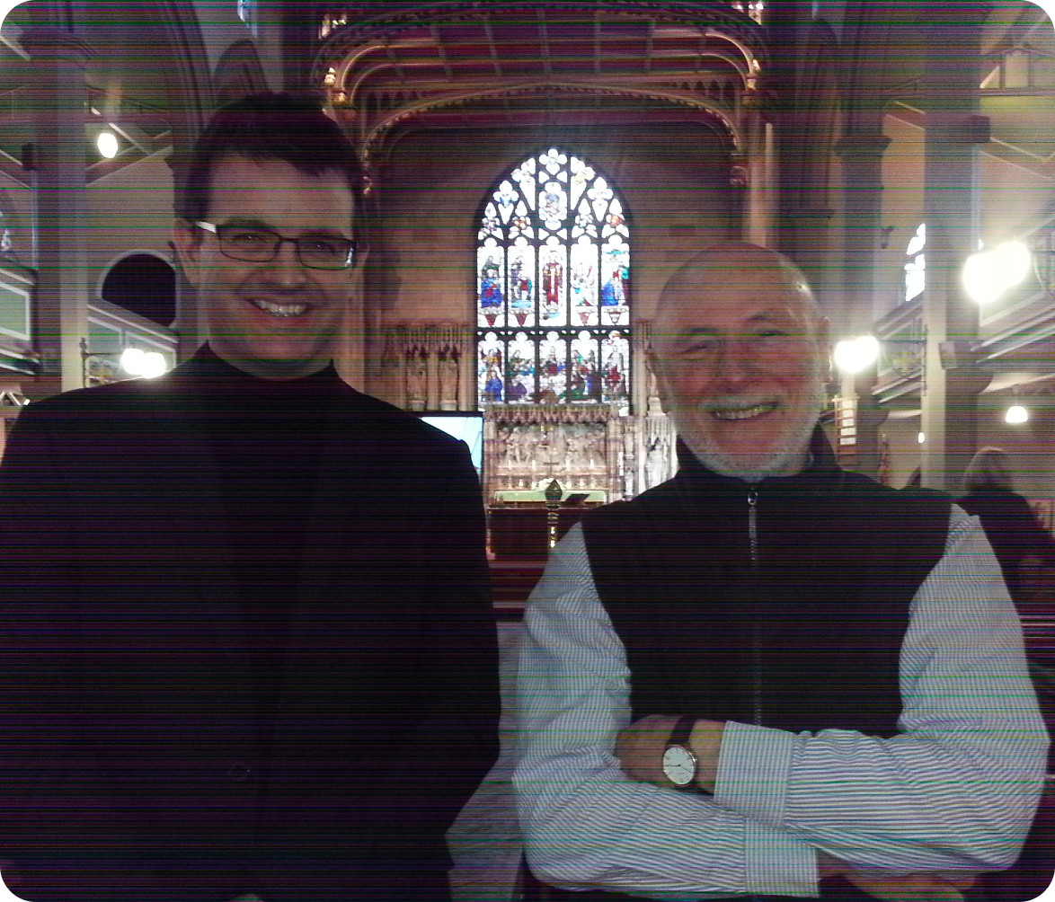 Paul Carr and Dan Rootham in Holy Trinity Church, Wordsley