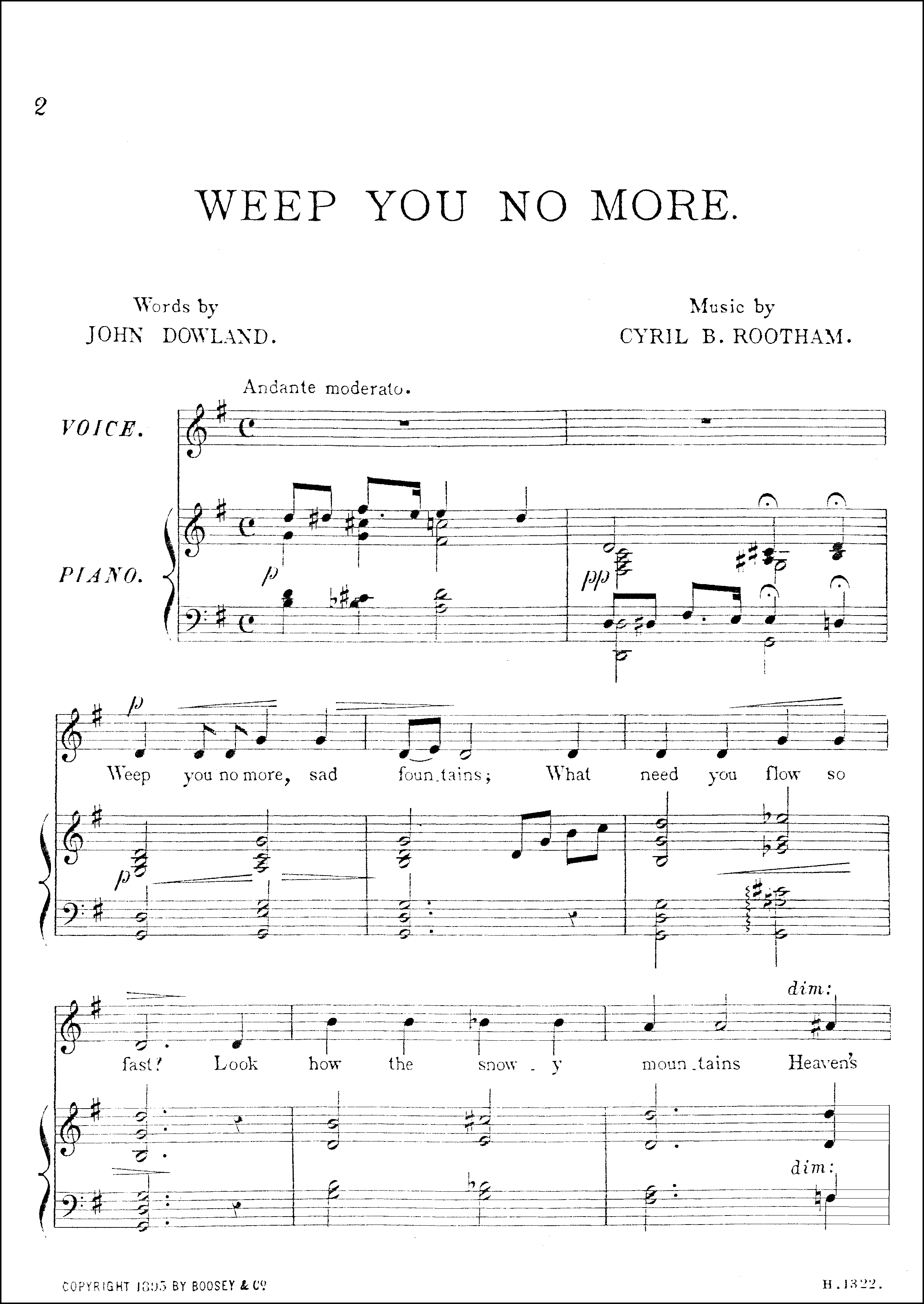 Op.1 No.2 original edition by Boosey and Co
