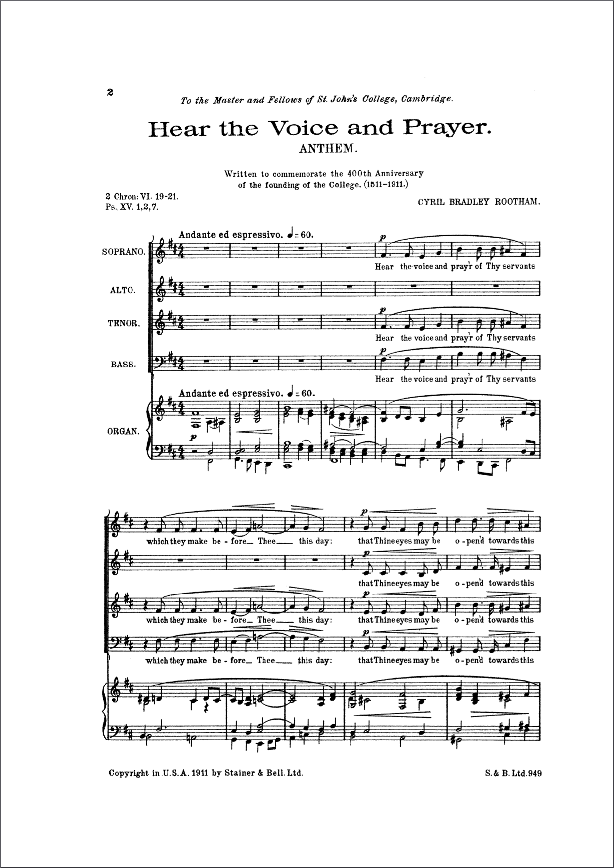 Op.39 original Stainer and Bell edition