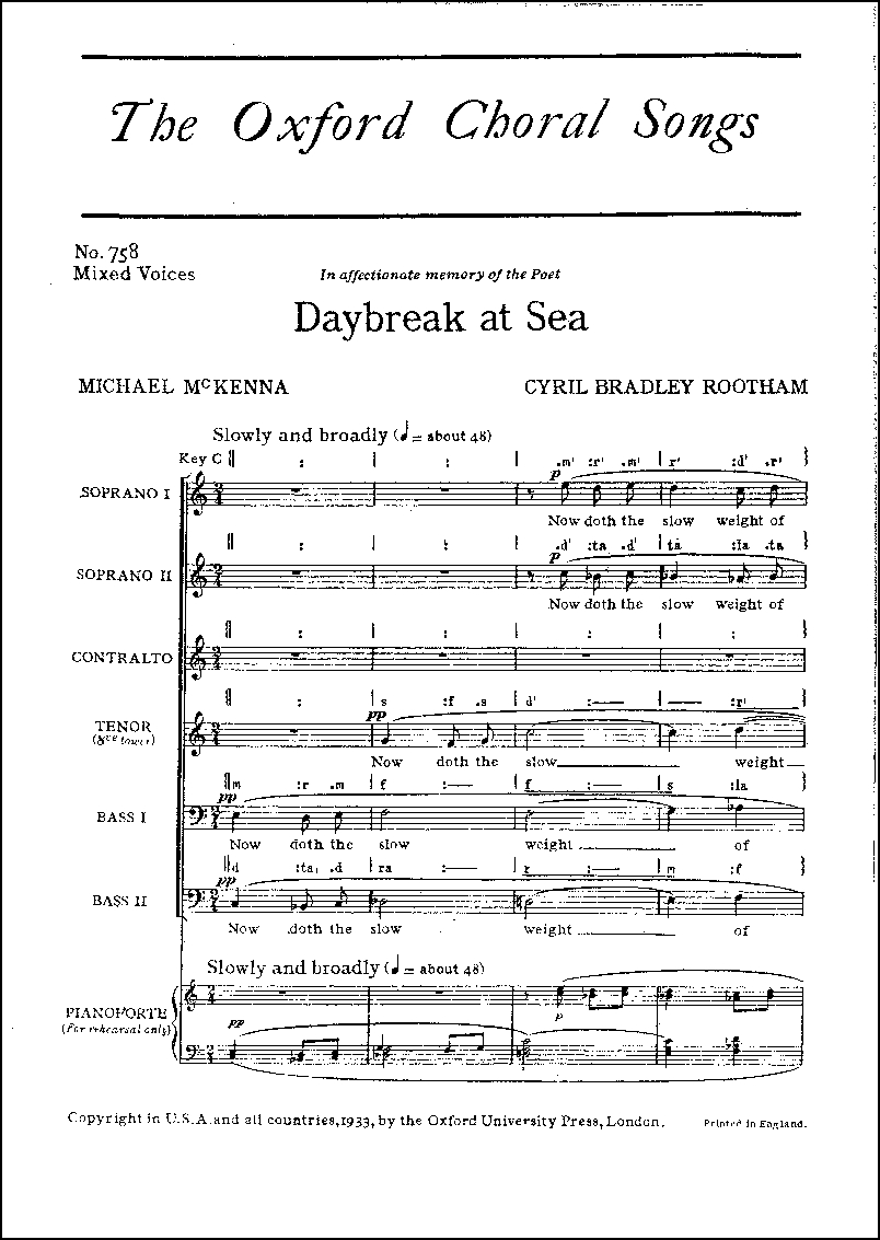 Daybreak at Sea: OUP Archive OCS758