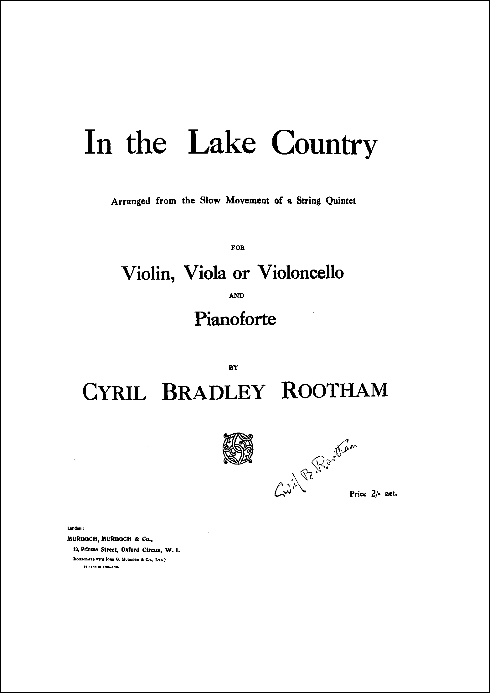 In the Lake Country original edition
