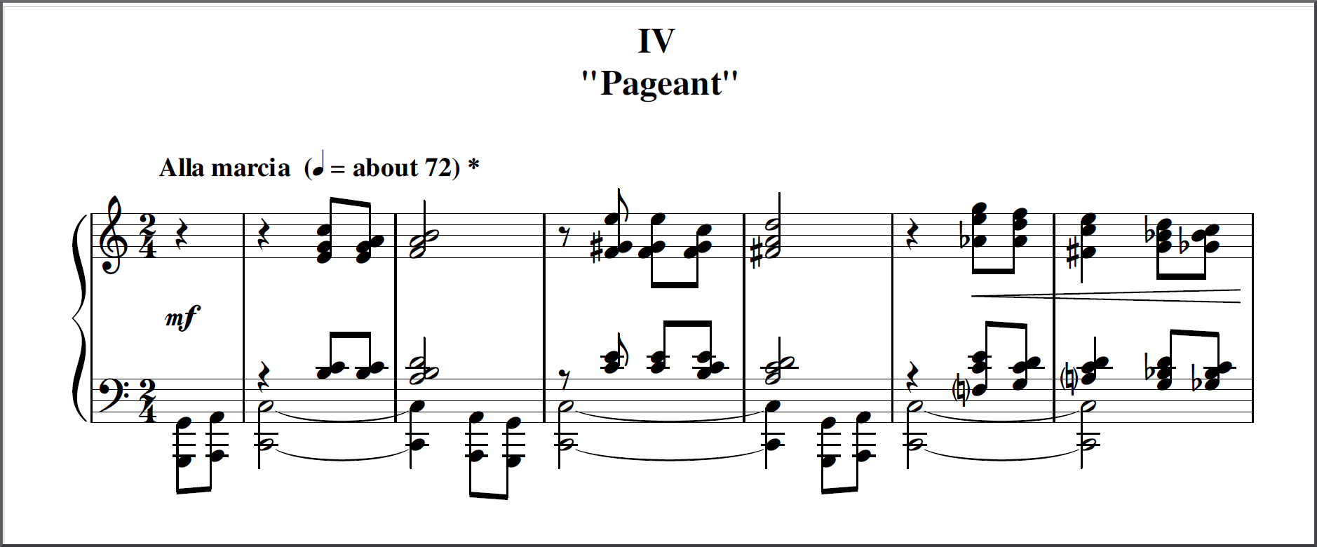 Op.88 Suite for Pianoforte: engraved