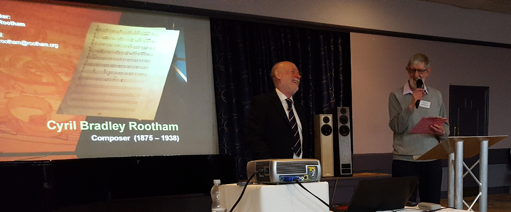 FRMS chairman Allan Child introducing Dan Rootham's talk about CBR